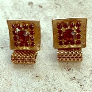 Lovely Vintage Rhinestone Cuff Links